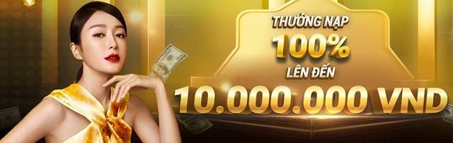 Nạp tiền lần đầu nhận 100% giá trị tiền nạp