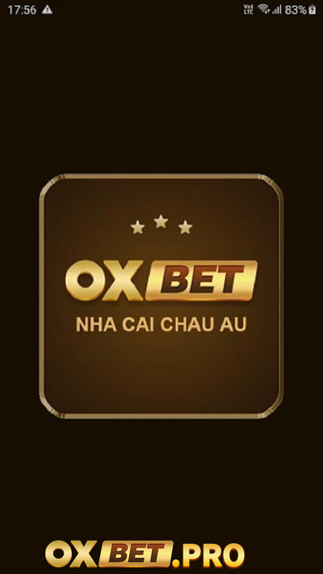 Giao diện ứng dụng Oxbet trên điện thoại di động